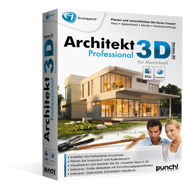 Architekt 3D X5 Professional für Mac - Hausdesign & Zeichen Software