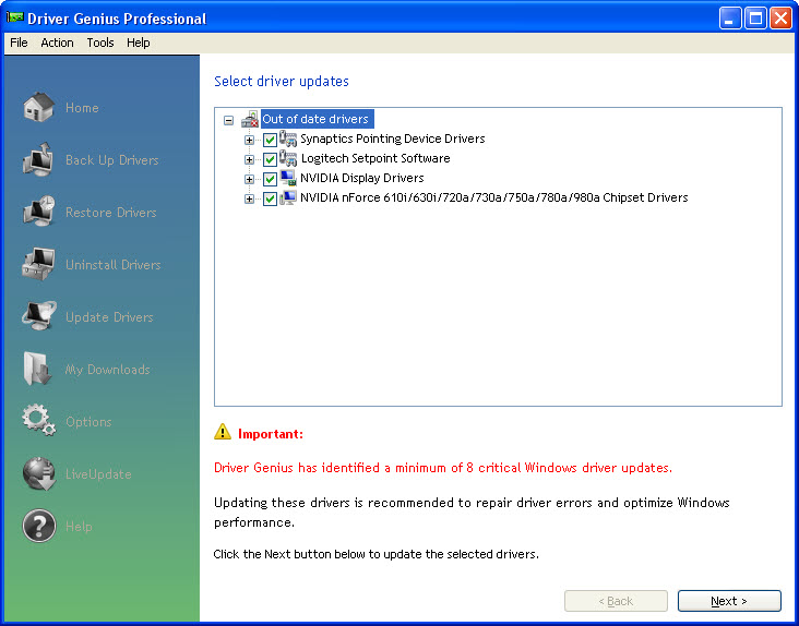 Download HP Driver Updates with Driver Genius