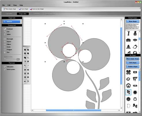 Shape Editor to create and customize your own shapes