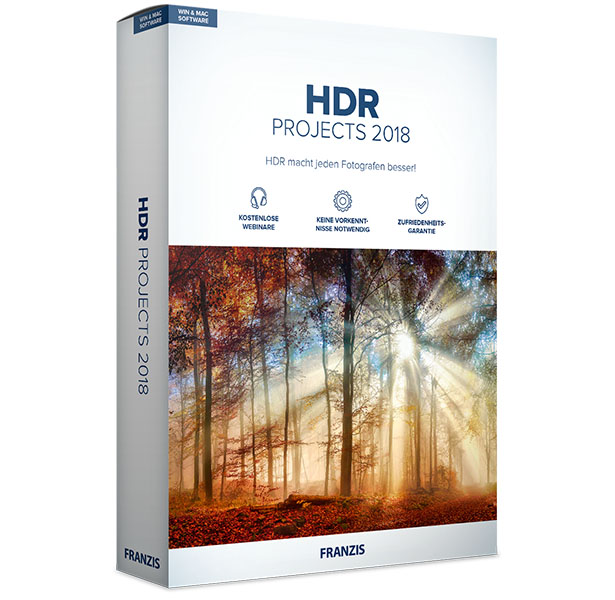 HDR projects 2018 für Mac