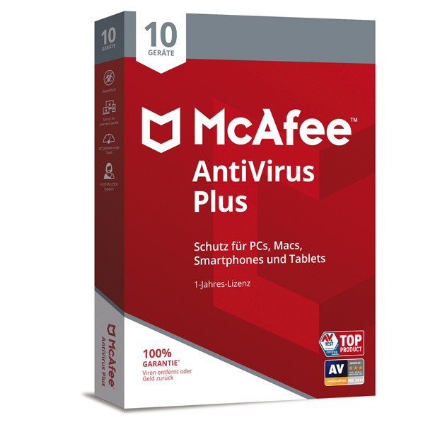 McAfee AntiVirus Plus 10 PC - 1 Jahr