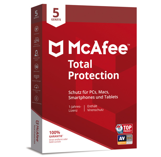 McAfee® Total Protection 5 PC - 1 Jahr