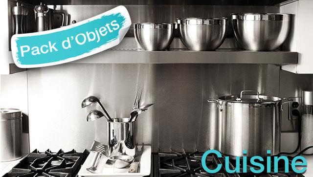 pack d 39 objets 3d pour turbocad cuisine. Black Bedroom Furniture Sets. Home Design Ideas