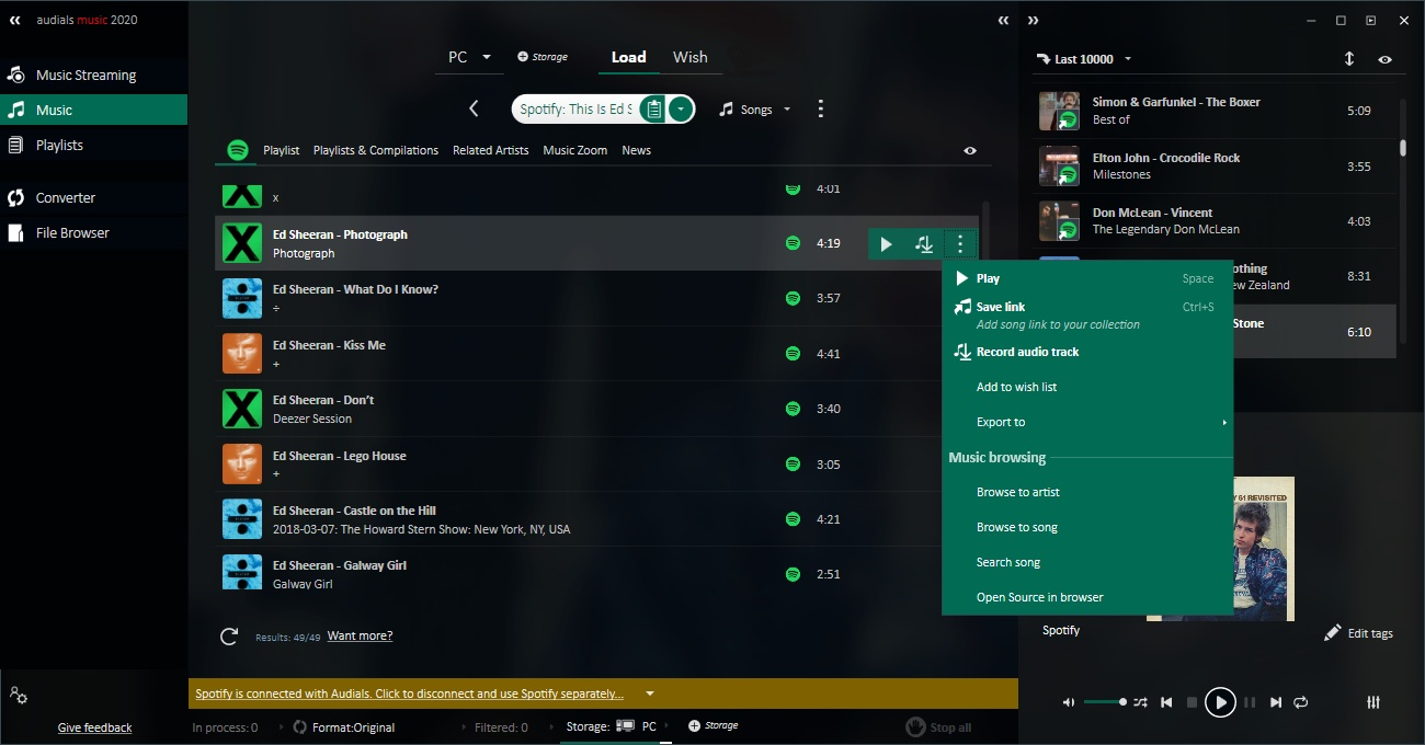 Recorder for Music Streaming Including Audio Converter