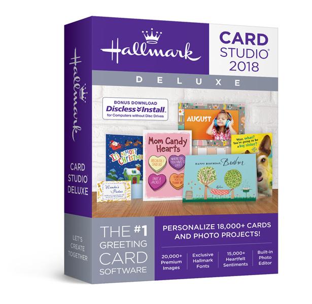 Hallmark Card Studio Deluxe The No1 Greeting Card Software