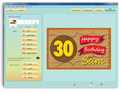Hallmark card studio the no1 greeting card software 2 add your own unique message or personal photos then change fonts colours and graphics m4hsunfo