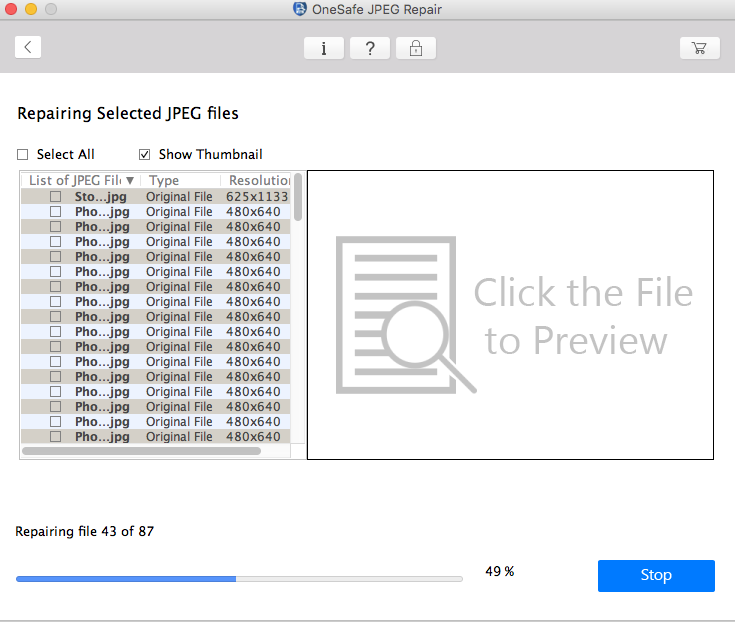 Onesafe Jpeg Repair For Mac Repair Corrupt Or Damaged Jpeg Files