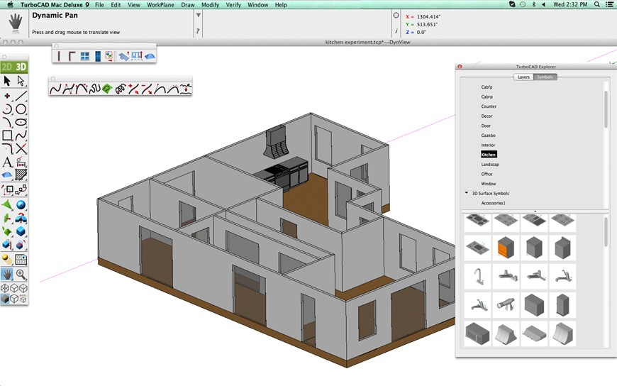 Turbocad Mac Deluxe 2d 3d Precision 2d Drafting 3d